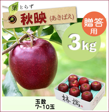 葉とらず秋映3キロ(贈答用)