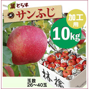 『寄付つき・レシピつき』葉とらずサンふじ[加工用りんご10kg(26~40玉)商品番号:F300]