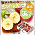 『寄付つき』《さっぱリンゴ!》葉とらずサンふじ[家庭用3kg(8~10玉)商品番号:F143]