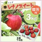 【予約】葉とらずシナノスイート[贈答用りんご3kg(7~8玉)商品番号:W203]