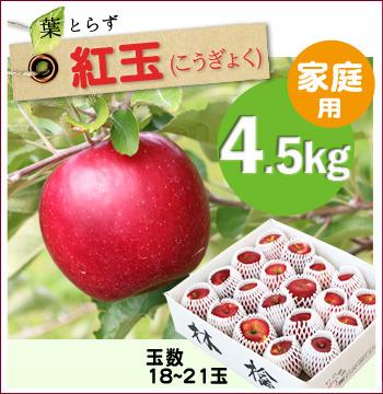 葉とらず紅玉4.5キロ
