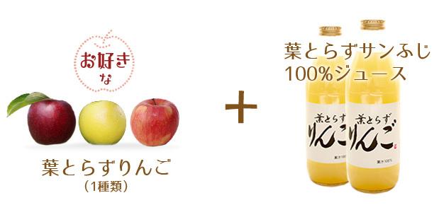 葉とらずりんご+ジュース